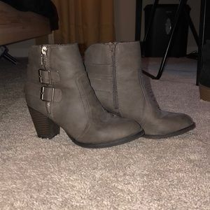 EUC Buckle Up Ankle Boots
